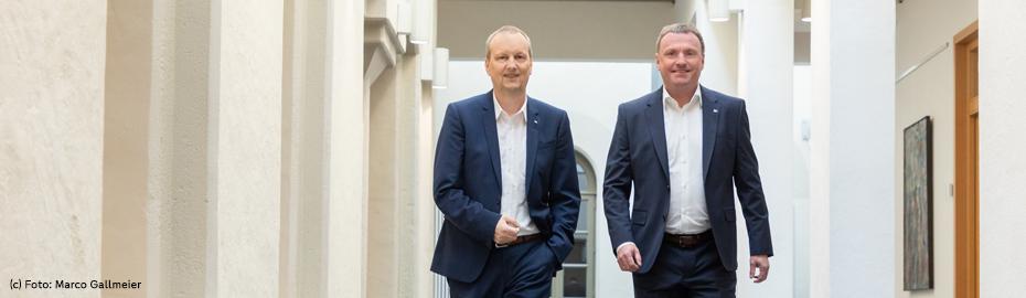 Markus Lüers und Bernd Meyer - Vorstände der Volksbank eG, Syke